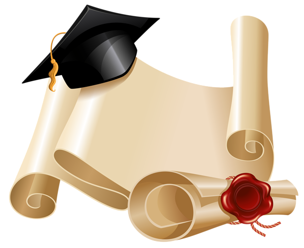 Diploma And Graduation Hat Png Clipart Picture Graduation Paper Background Graduation Wallpaper