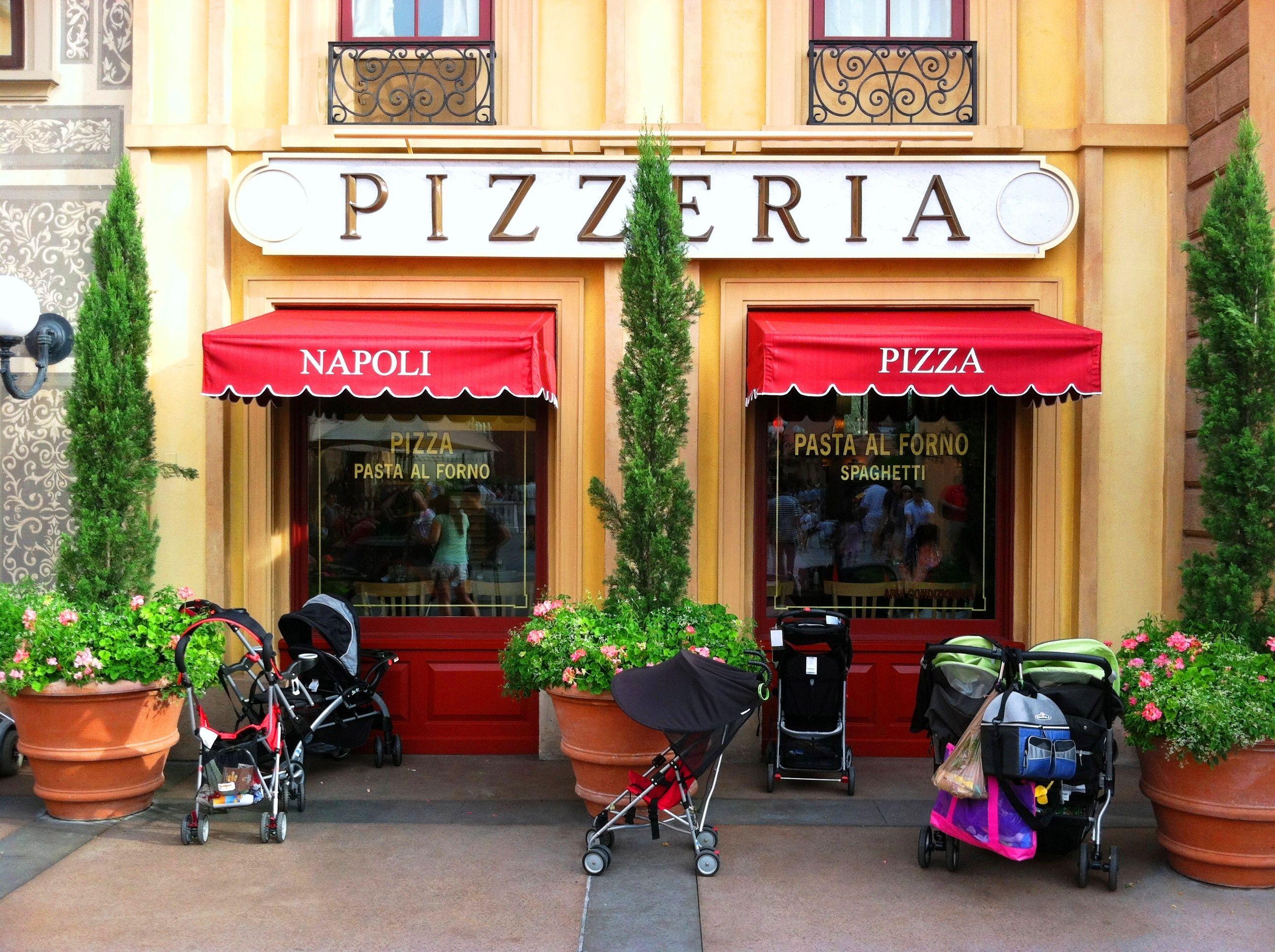 Italian restaurant exterior - Walt Disney World S Epcot Italy World Showcase Napoli Pizzeria Store Front Gardens And Flower