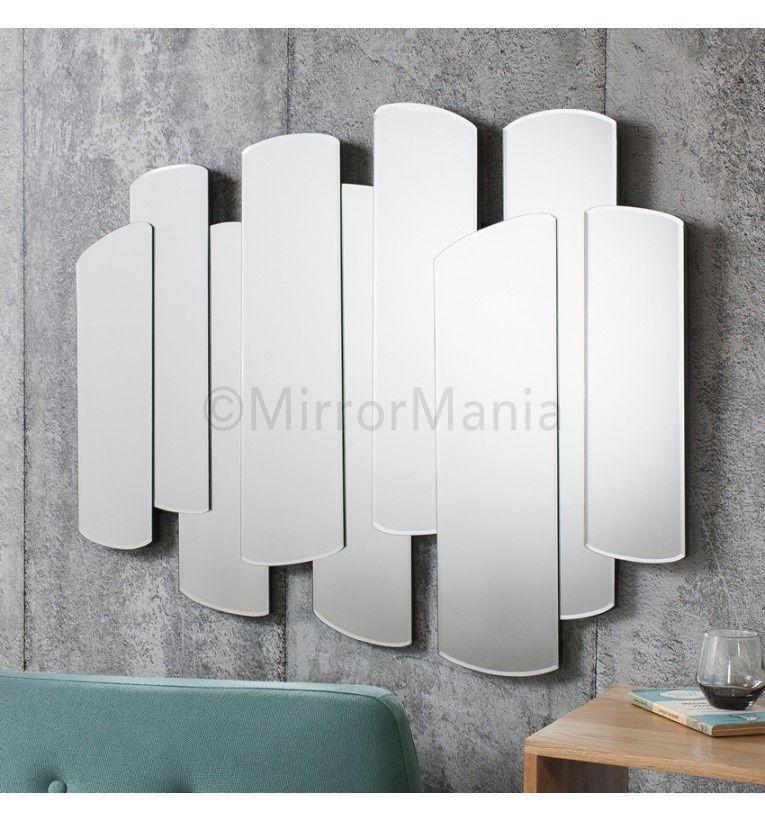 layers of shaped mirror panels create this modern yet retro design http - Modern Mirrors