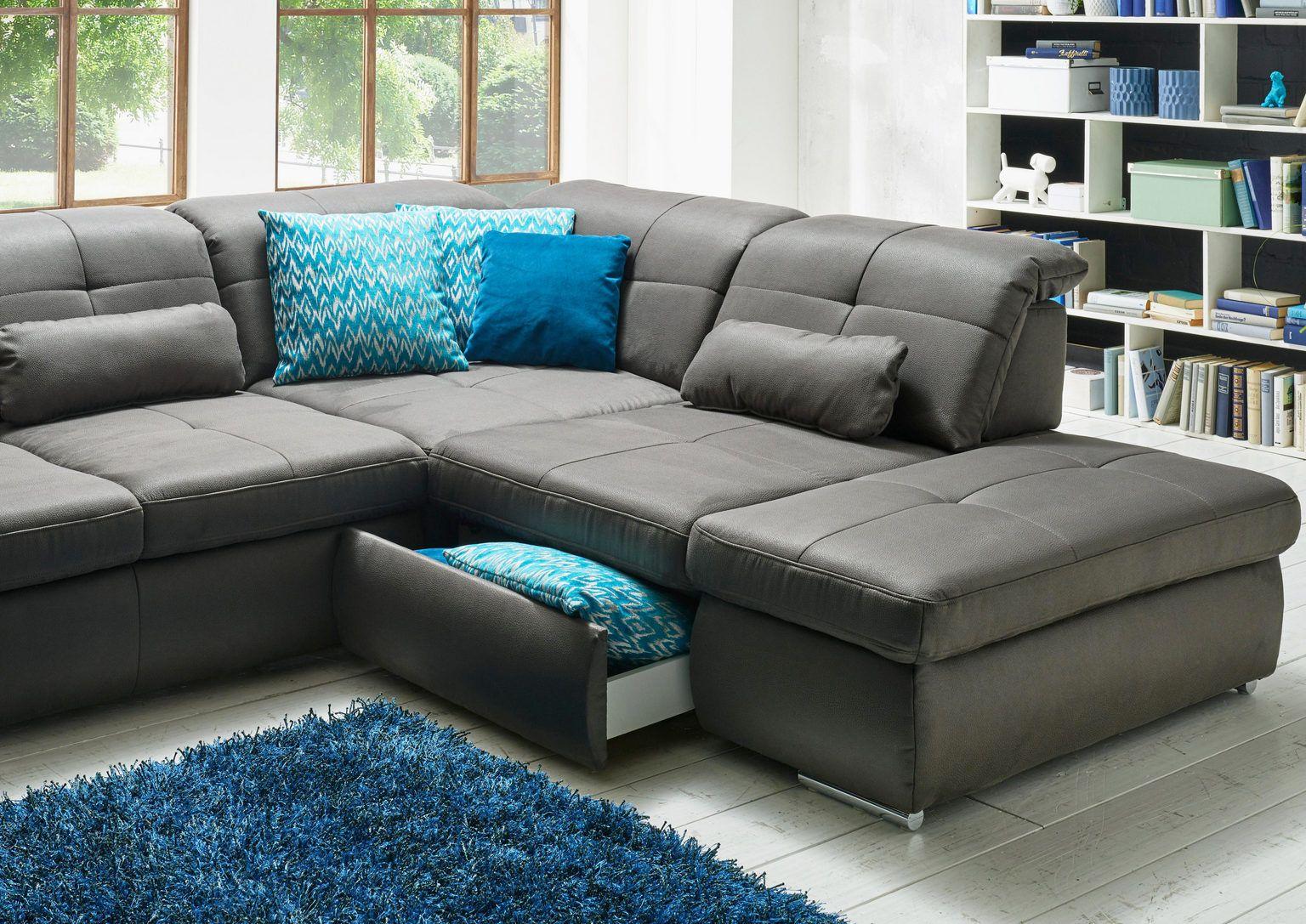 Wohnlandschaft In Textil Grau Online Kaufen Xxxlutz Couch Mobel U Formiges Sofa Wohnlandschaft