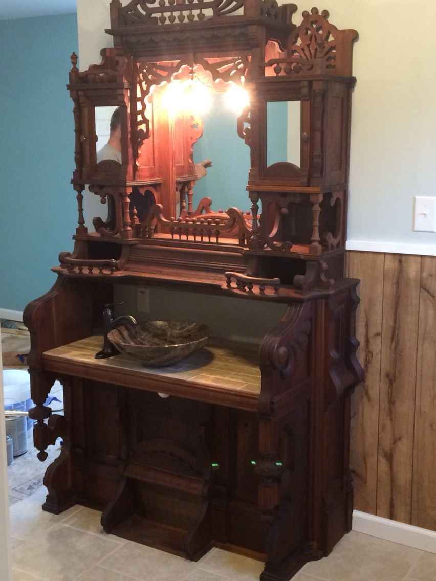 Image Gallery Website Antique Pump Organ bathroom Vanity