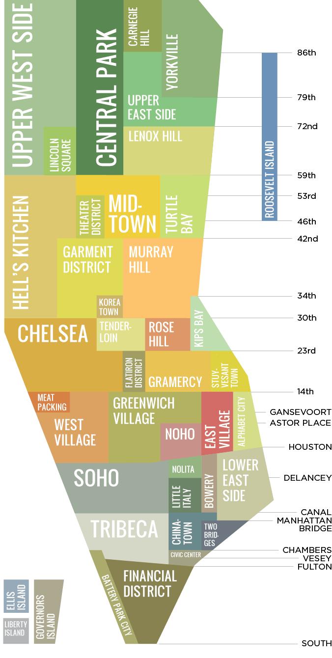 Nyc Neighborhoods Served Map New York City Pinterest