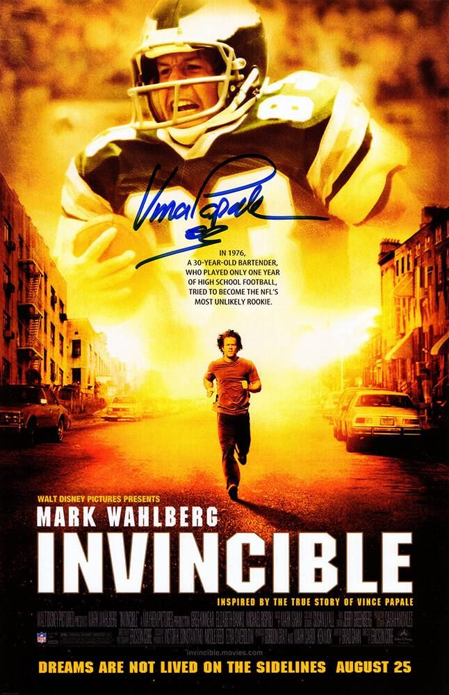 Vince Papale Signed Invincible Movie Poster