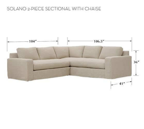 Solano 2 Piece Sectional With Chaise Pottery Barn
