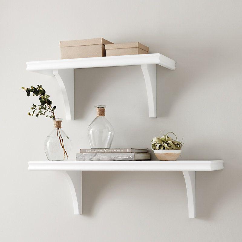 The Essential Shelf 30 Ballard Designs In 2020 White Wall Shelves Decor Shelves