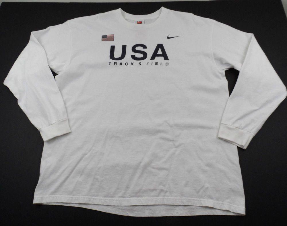 ac1b5c2195 Nike Team USA Track and Field USATF Shirt Olympics Mens XL Crewneck Long  Sleeve  Nike  GraphicTee