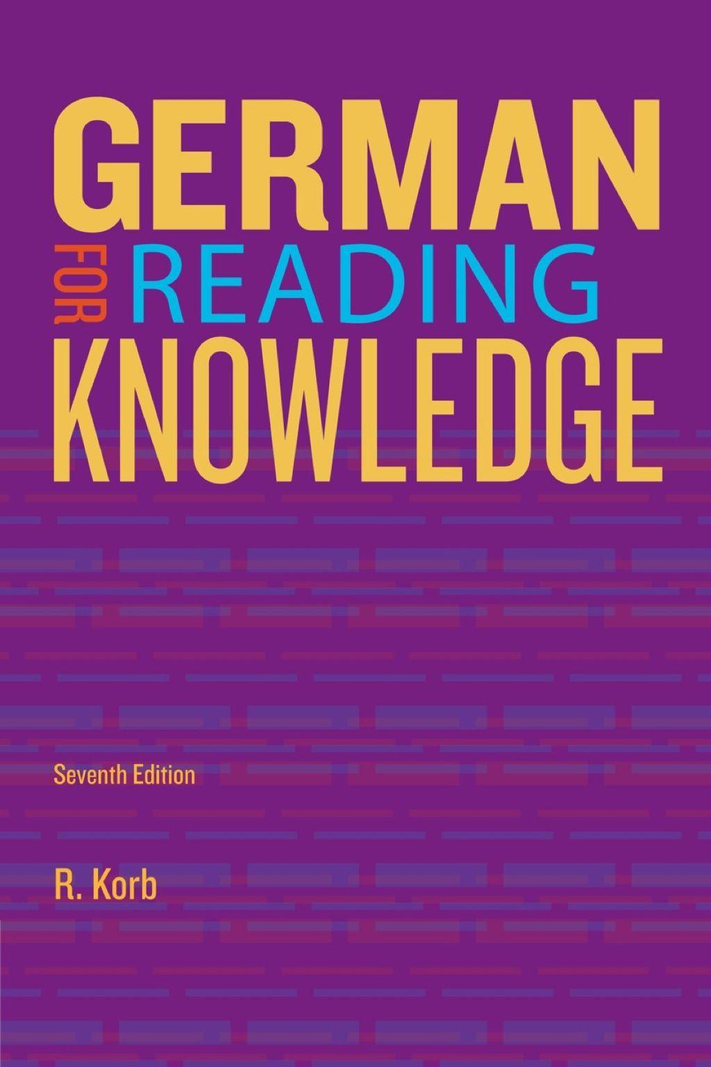German For Reading Knowledge Ebook Rental