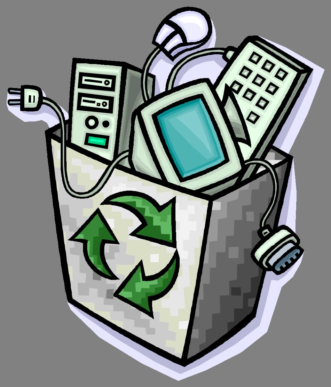 Representacion Animada Residuos Electronicos Imagenes De Reciclaje Aparatos Electronicos