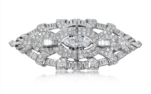 297d18a7e44 Revival Jewels' Style Suggestion: An Art Deco diamond and platinum  double-clip brooch