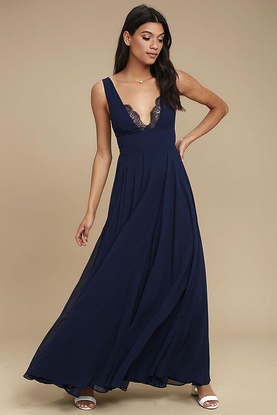 True Bliss Navy Blue Maxi Dress | Blue maxi dresses, Blue maxi and ...