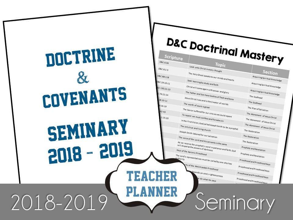 Lds seminary 2018