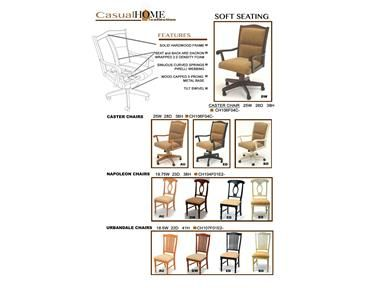 Shop For GS Furniture Caster Chair, CH106F04C, And Other Dining Room Arm  Chairs At Kiser Furniture In Abingdon, VA. Solid Hardwood Construction.