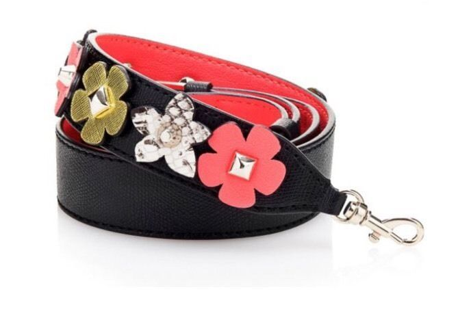 New Guess Replacement Handbag Strap Black With Flowers