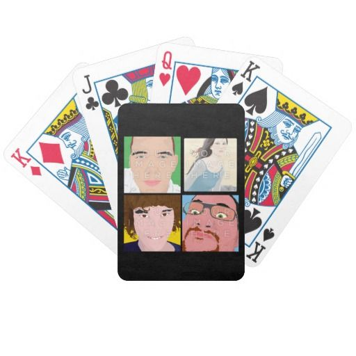 Instagram 4 Photo Personalized Playing Cards #colorbindery #zazzle #customizable #giftideas