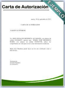 carta de autorizacion   cris   Carta formal, Cartas y ...