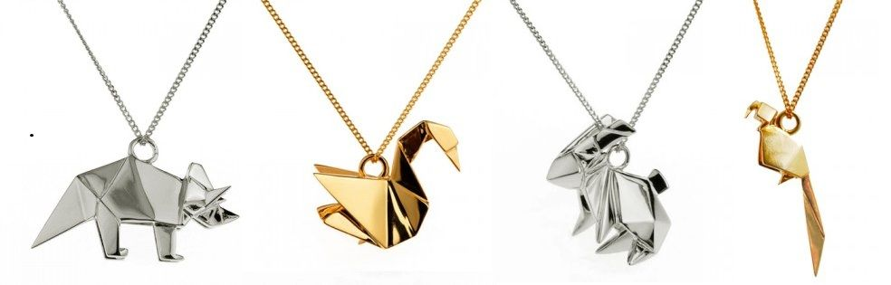Origami animals necklace gifts pinterest collares y joya origami animals necklace aloadofball Images