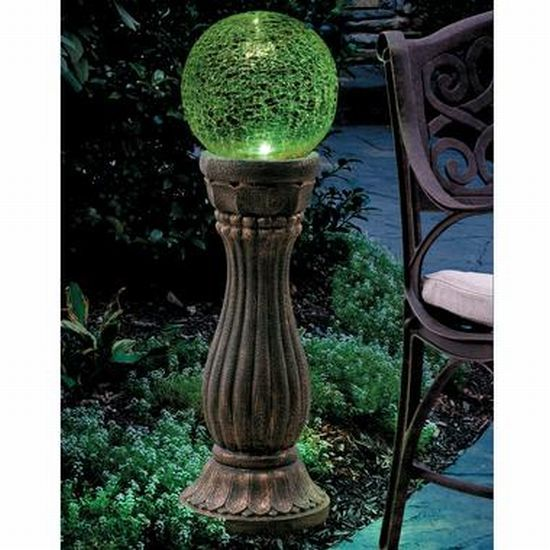 Elegant Color Changing Gazing Ball Soaks Up The Sun And Lights Up Your Garden    Ecofriend