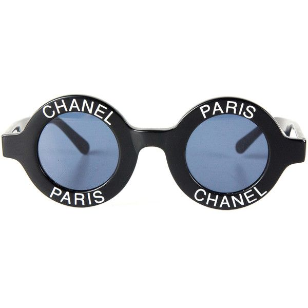d5aa0b3a7 Chanel (18,160 GTQ) ❤ liked on Polyvore featuring accessories, eyewear,  sunglasses, round frame glasses, chanel sunglasses, chanel, vintage round  ...