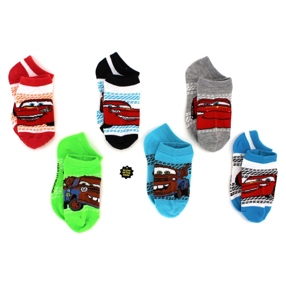Disney cars boys 6 pk ankle socks f2723z lightning mcqueen tow babies clothes negle Gallery