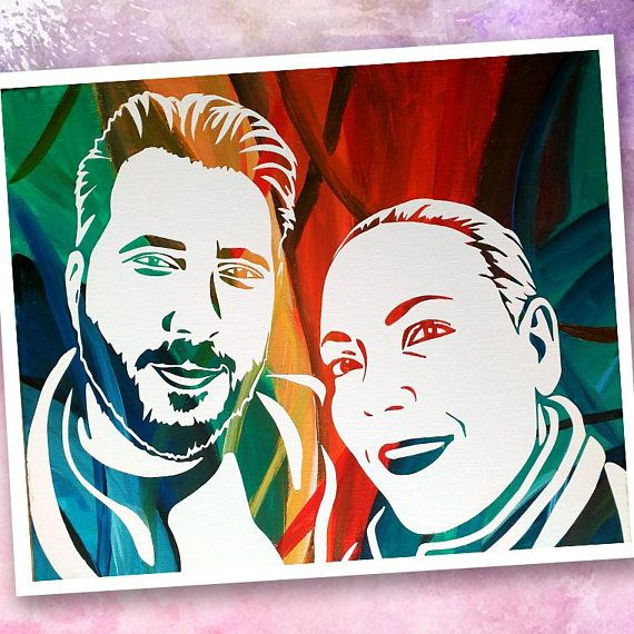 Painted by yourself custom pop art portrait from your photo custom diy gift diy project diy painting diy diy wall decorpainted by yourself custom pop art portrait from your photo custom valentines day gift solutioingenieria Choice Image