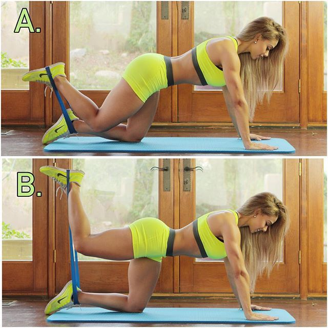 One Of My Favorite Home Glute Exercises: Donkey-kicks (or