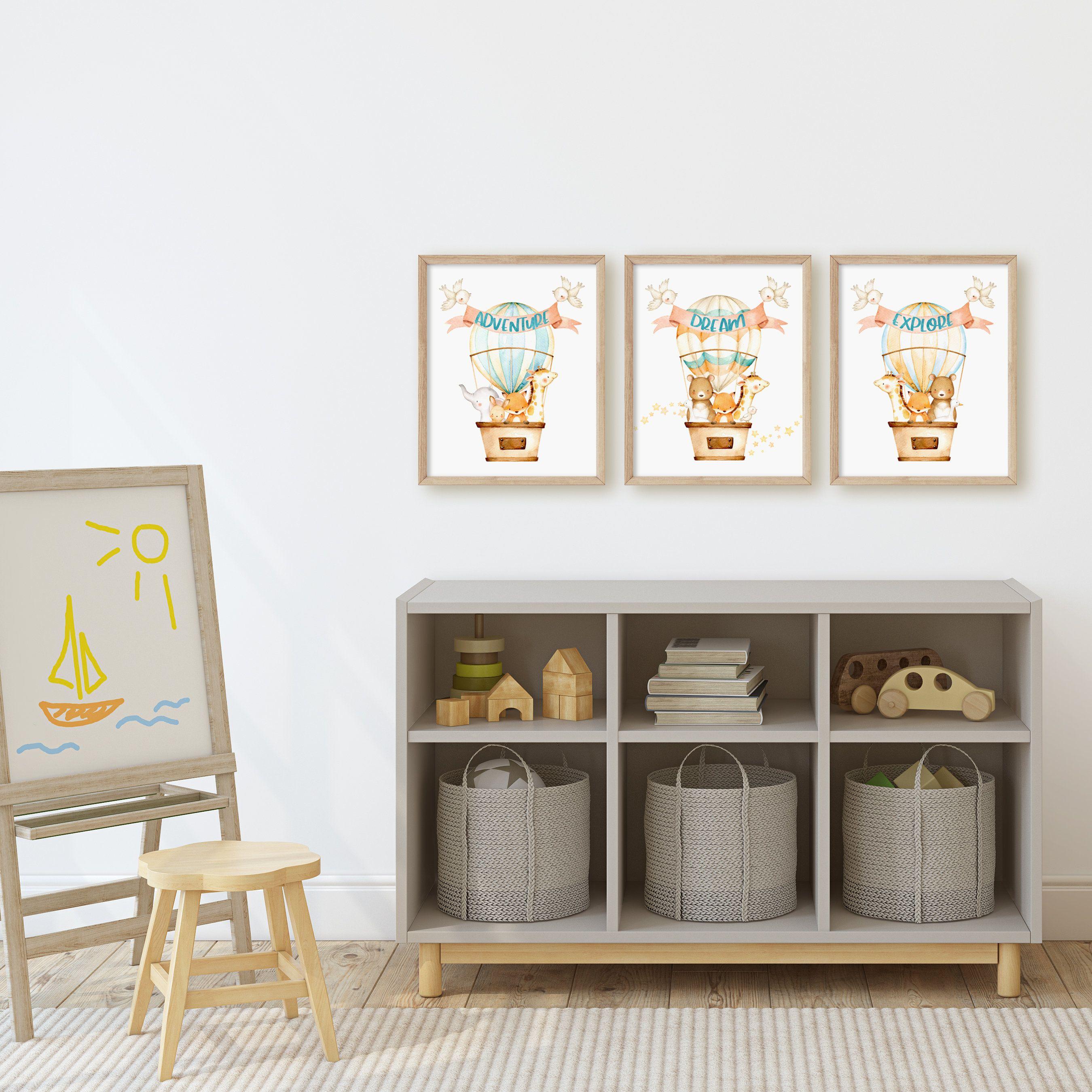 Hot Air Balloon Nursery Decor Printable Wall Art Etsy in