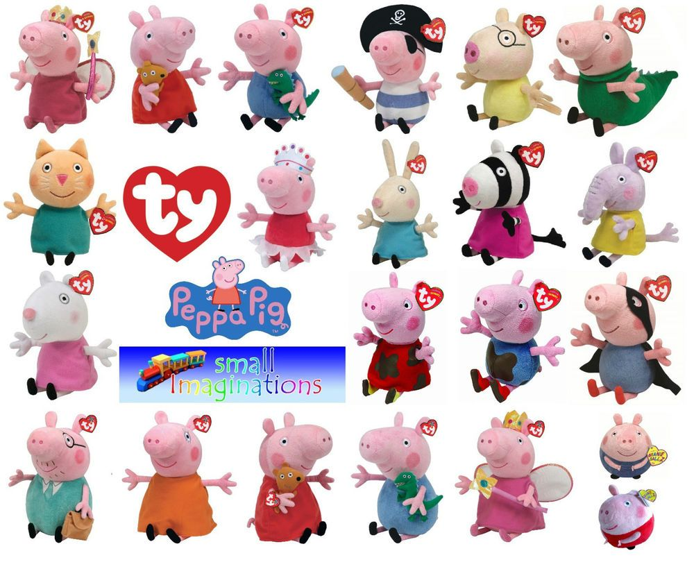 ty peppa pig and friends beanies and buddies soft plush teddy