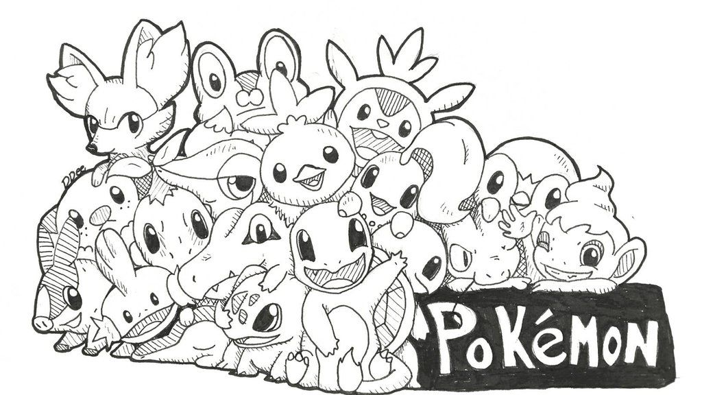 Pokemon Starters Line Art Coloring Pages Quote Colouring