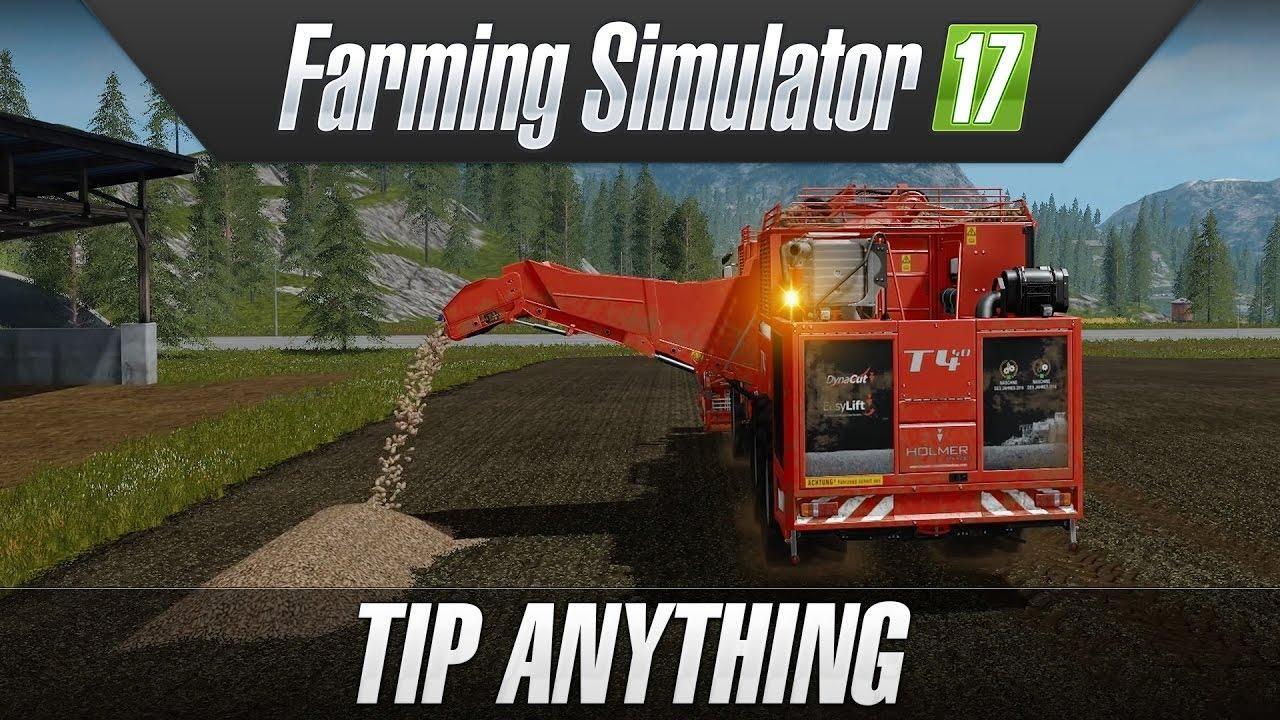 Farming simulator 2017 tip anything fs17