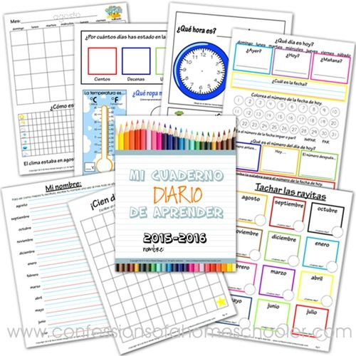 Here is a FREE Daily Learning Notebook in Spanish. This set includes daily learning activitiesfor preschoolers and kindergartners. Need more fr