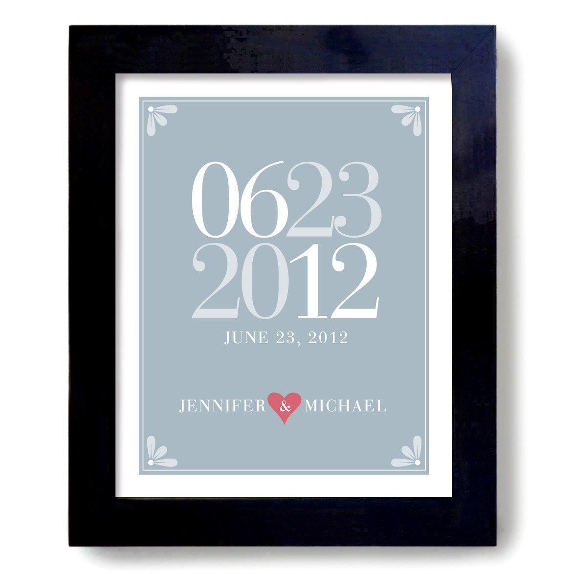 Etsy Wedding Gifts: Custom Wedding Gift Art Print Personalized For Couples