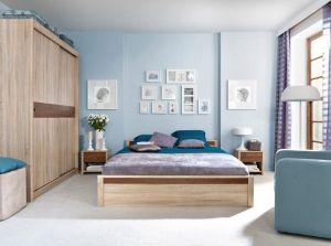 Oren Brw Bedroom Furniture Set Polish Black Red White