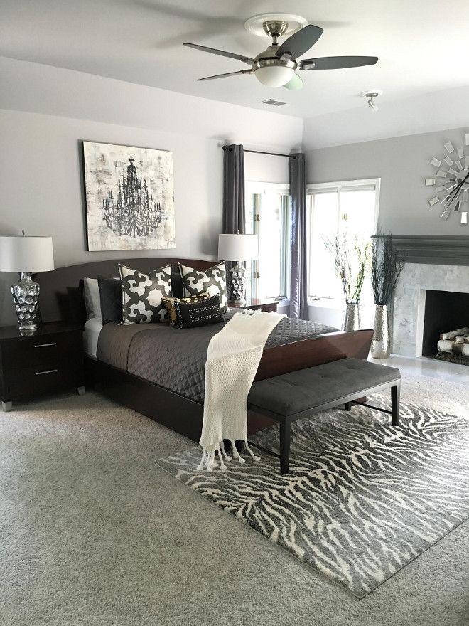 Bedroom Paint Color Benjamin Moore Metro Gray Benjaminmoore Metrogray Beautiful Homes Of Inst