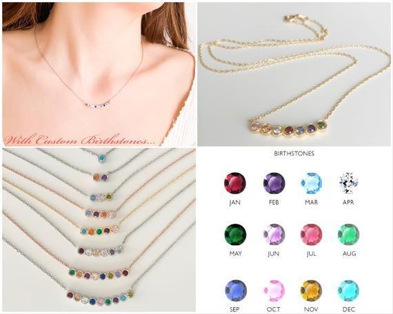 Photo of Birthstone Necklace Jewelry, Personalized Necklace, Necklaces for Women, Dainty Necklace, Unique Gifts for Women, Personalized Gifts for Mom