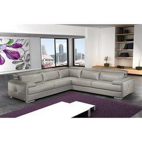 Shop J&M Furniture Gary Modern Gray Genuine Leather ...