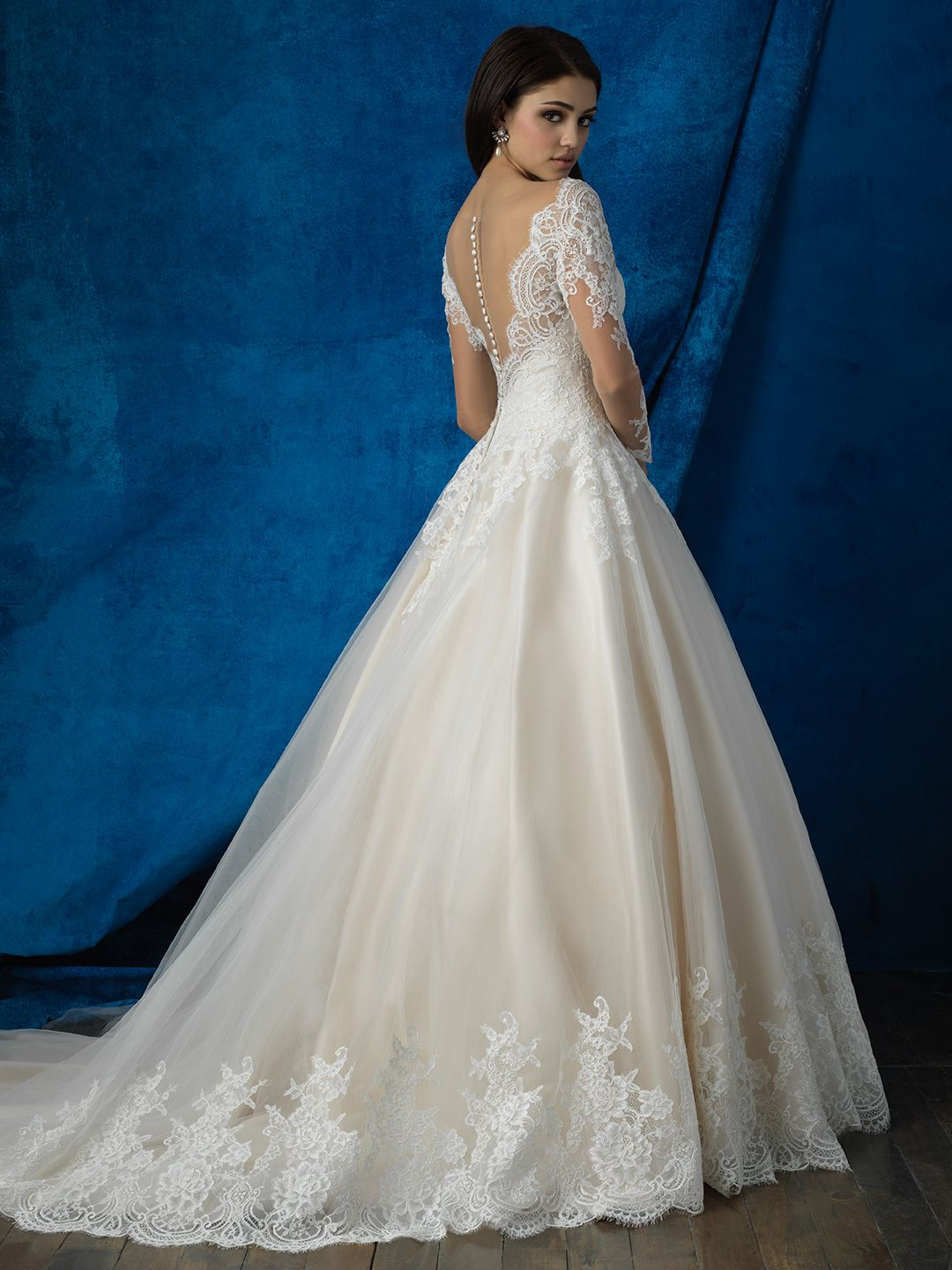 Allure bridals style 9366 back view fall 2016 wedding gowns find this pin and more on fall 2016 wedding gowns by danellibridal ombrellifo Gallery