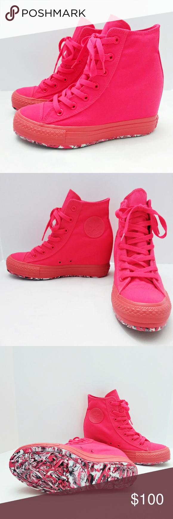 CONVERSE || Neon CTAS Lux Mid [Hidden] Wedge Shoes Brand New