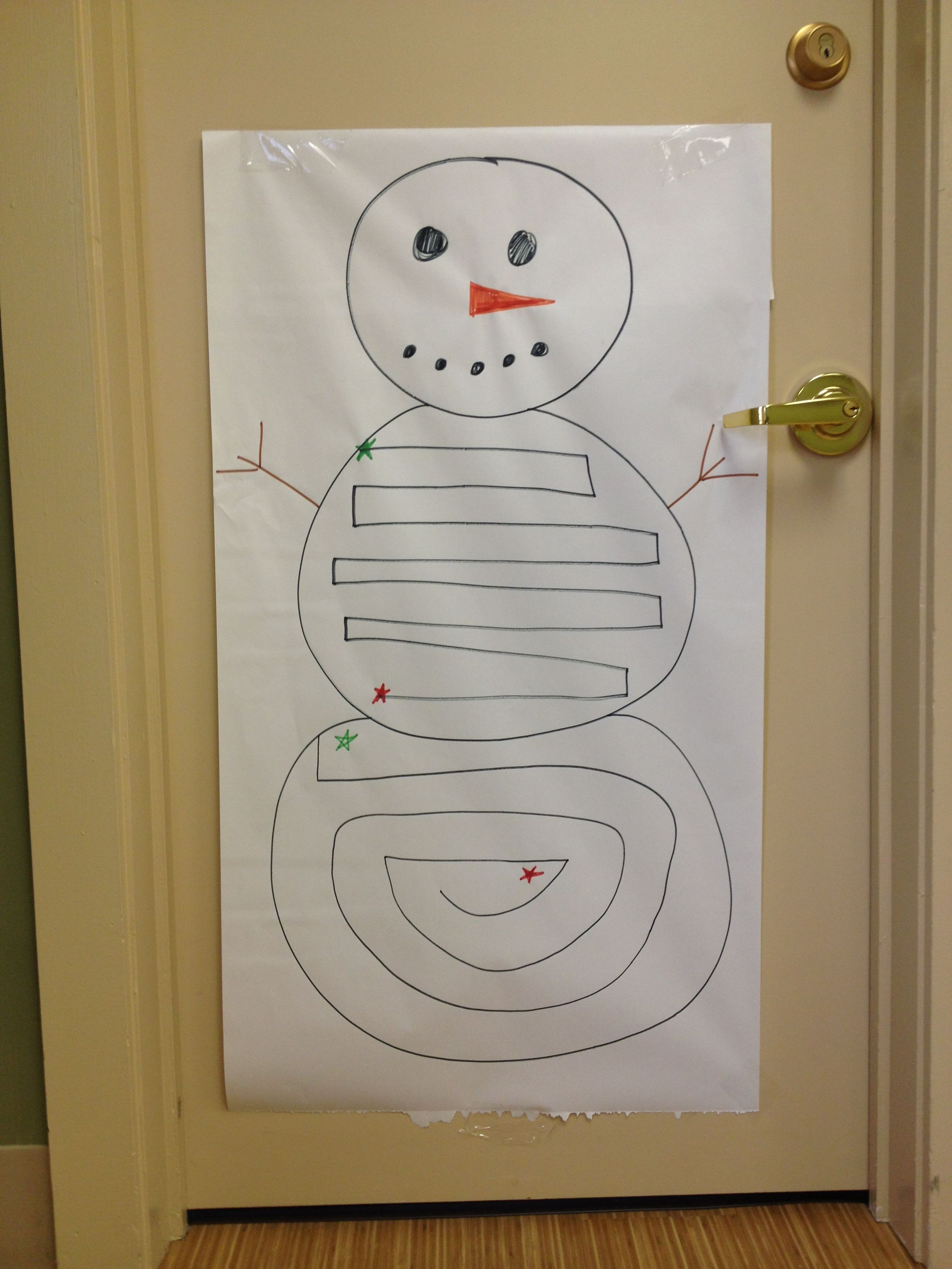 Visual Motor Midline Snowman Activity I Set Up In The Ot