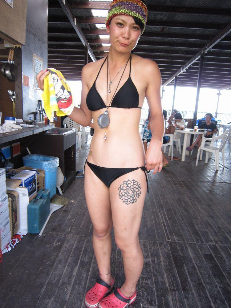 片瀬江ノ島 西浜海水浴場☆part 17 Street Snap Of Tattoo Image From