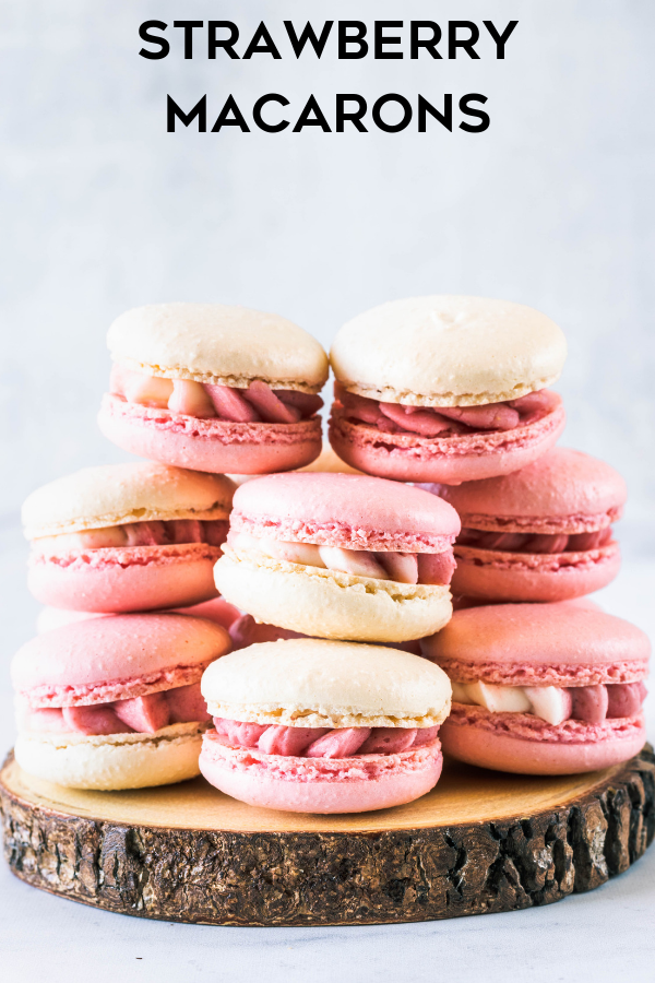 Strawberry Macarons Recipe Macaroon Recipes Strawberry Macarons Recipe Macaron Recipe