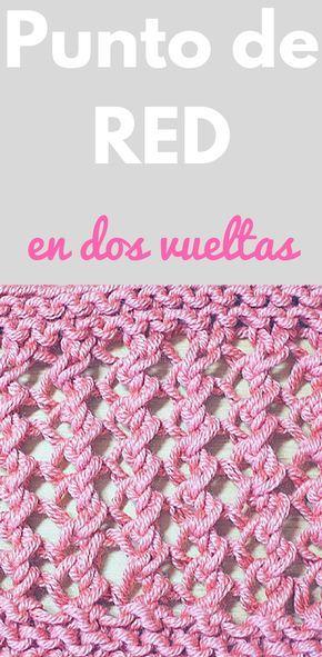 Punto de RED fácil tejido en dos agujas o palillos   Crochet, Knit ...
