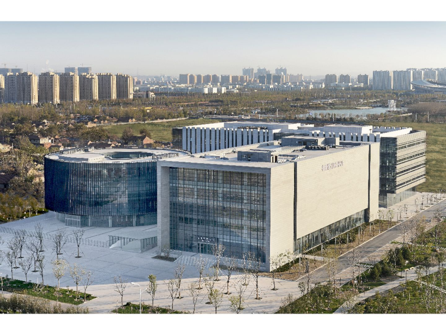 Zibo Culture Center: The Knowledge Center in Zibo, China | Knowledge on house inside a china, homes in china, small apartment designs in china,