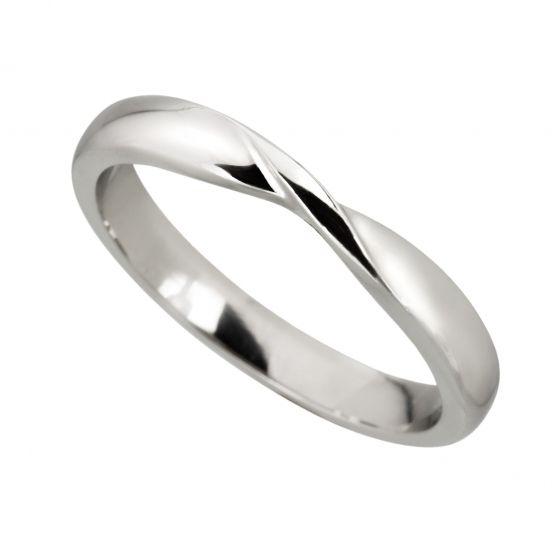 Ribbon Twist Wedding Ring Mitchel Co Birmingham Sparkling