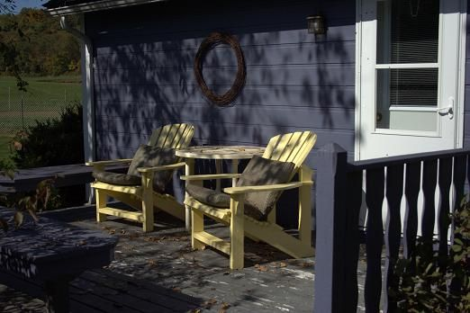 Private deck outside The Cottage @ Justin Trails Resort ... on Sparta Outdoor Living id=55694