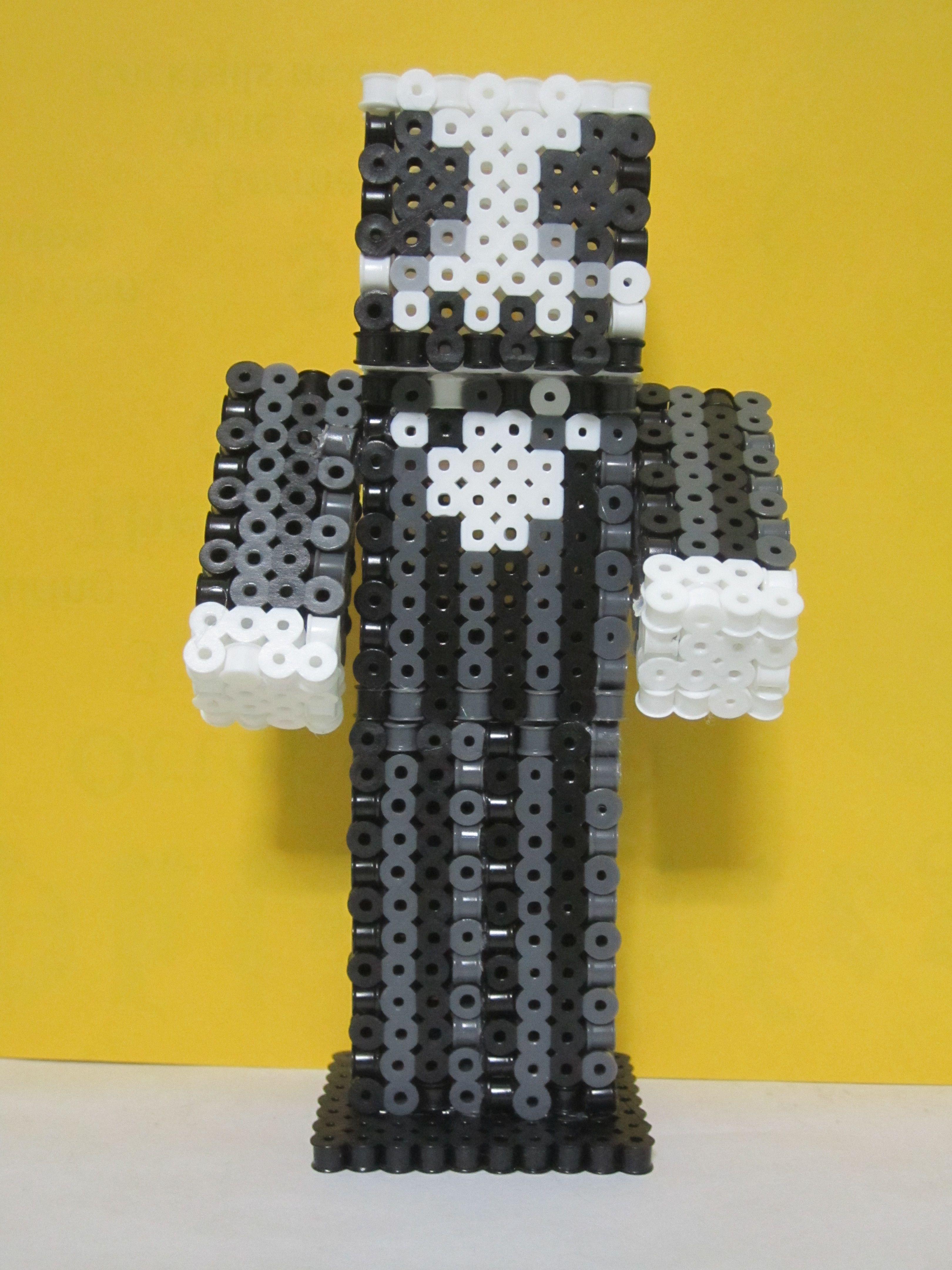 Jack Skellington Minecraft Skin 12D_Perler Beads  Perler beads