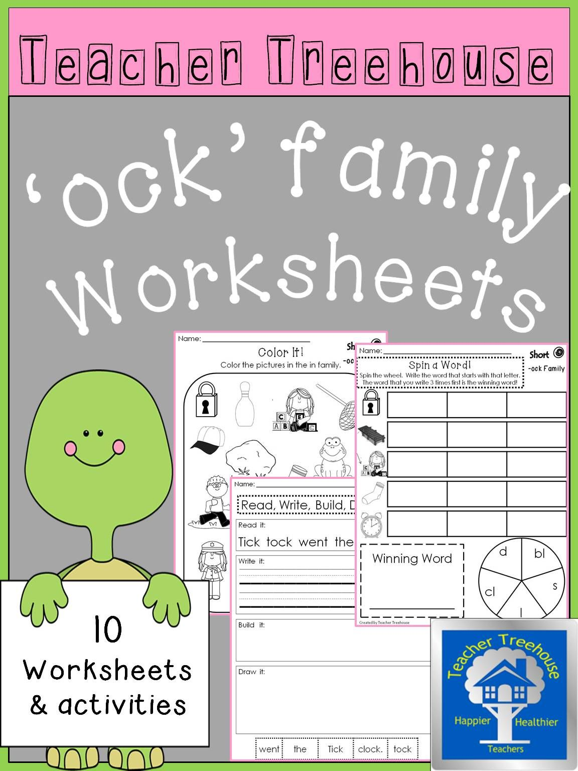 ock Word Family Worksheets | Morning work, Homework and Worksheets