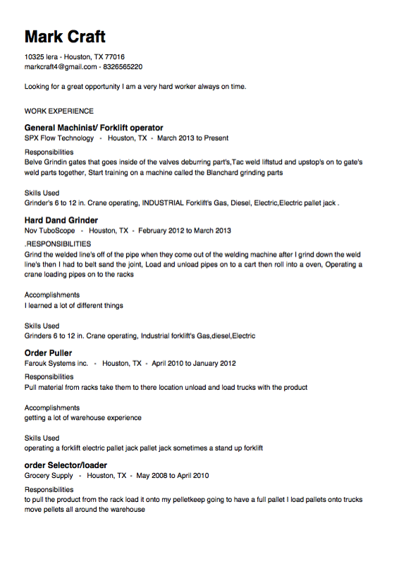 electric pallet jack resume sample http resumesdesign