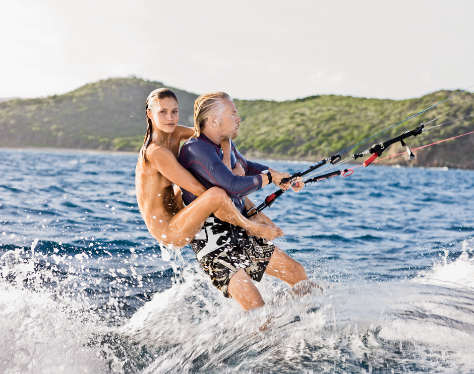 Video: Sir Richard Branson sets new record for most people