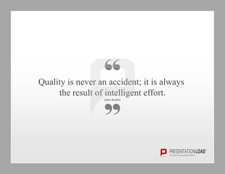 TotalQuality Management Powerpoint Templates Quality Is Never