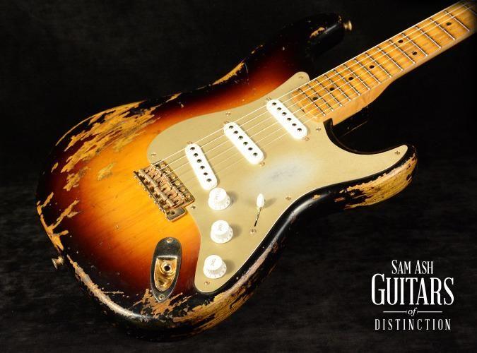 Fender Custom Shop 2014 Limited Edition Golden '50s 1954 Stratocaster Electric Guitar 2-Color Sunburst (SN:XN2167)   SamAsh